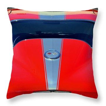 Very Cool Corvette Throw Pillow