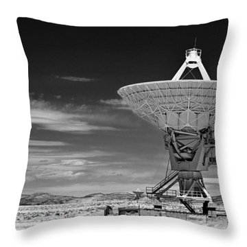 Very Large Array Radio Telescopes Throw Pillow by Christine Till
