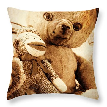 Very Old Friends Throw Pillow by Valerie Reeves