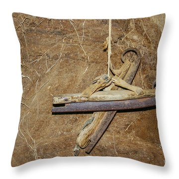 Very Old Ice Skates Throw Pillow by Patricia Hofmeester