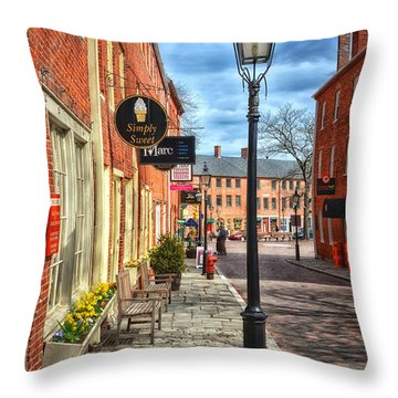 Simply Sweet Throw Pillow by Tricia Marchlik