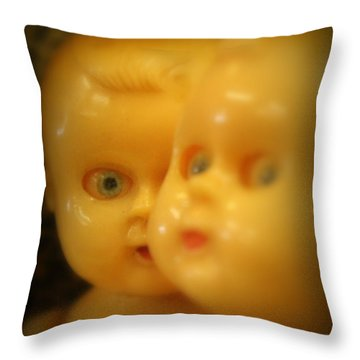 Throw Pillow featuring the photograph Very Scary Doll by Lynn Sprowl