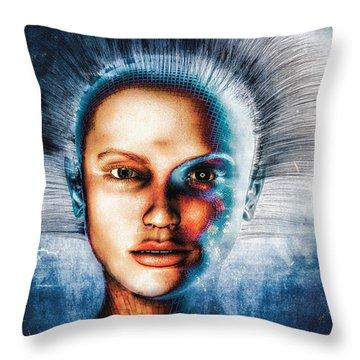 Very Social Network Throw Pillow by Bob Orsillo