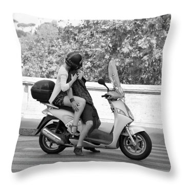 Vespa Romance Throw Pillow