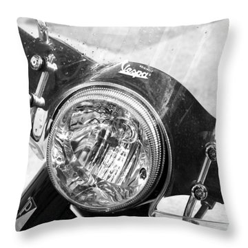 Vespa Scooter Throw Pillow