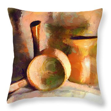 Throw Pillow featuring the painting Vessels Of The Master by Wayne Pascall
