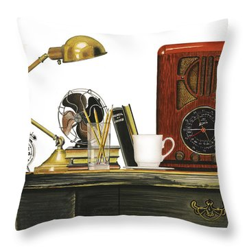 Throw Pillow featuring the painting Vestiges Of Time by Ferrel Cordle