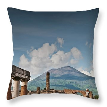 Vesuvius Throw Pillow