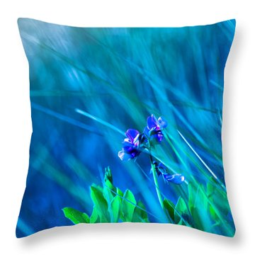 Vetch In Blue Throw Pillow by Adria Trail