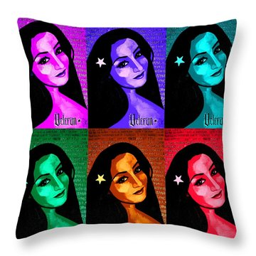 Throw Pillow featuring the painting Veterana Colors by Michelle Dallocchio