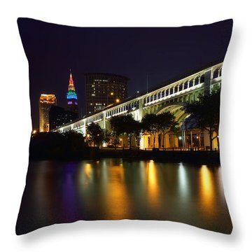 Veteran's Memorial Bridge Throw Pillow