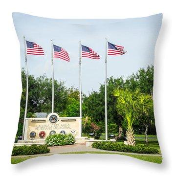 Veterans Memorial Laguna Vista Texas Throw Pillow