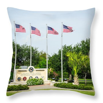 Veterans Memorial Laguna Vista Texas Throw Pillow