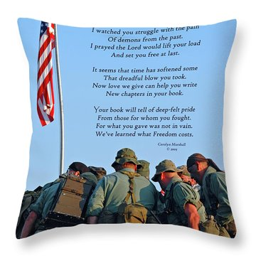 Veterans Remember Throw Pillow