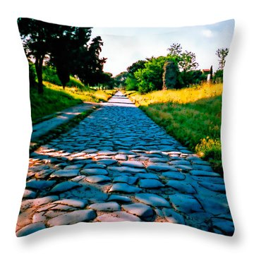 Via Appia Antica - Rome Throw Pillow