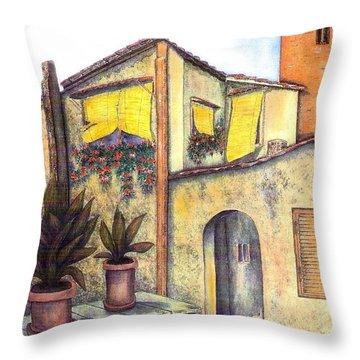Via Roma Throw Pillow by Pamela Allegretto