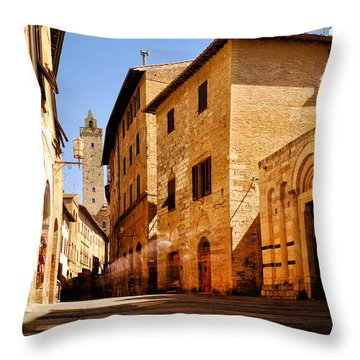 Via San Giovanni Throw Pillow