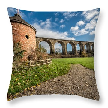 Viaduct Ty Mawr Park Throw Pillow by Adrian Evans