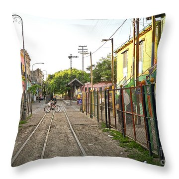 Vias De Caminito Throw Pillow by Silvia Bruno