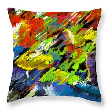 Colorful Impressions Throw Pillow