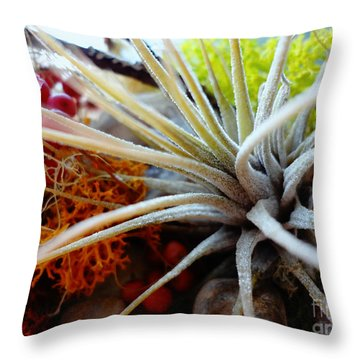 Vibrant Throw Pillow by Arlene Sundby