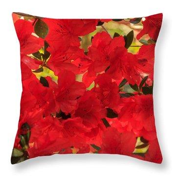 Vibrant Azalea Throw Pillow