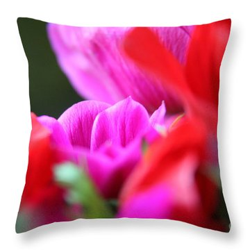 Vibrant Bouquet  Throw Pillow by Lynn England