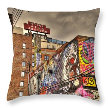 Vibrant Lodging Throw Pillow