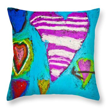 Vibrant Love Throw Pillow by Sara Frank