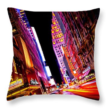 Vibrant New York City Throw Pillow