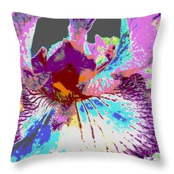 Vibrant Petals Throw Pillow by Sally Simon