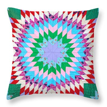 Vibrant Quilt Throw Pillow