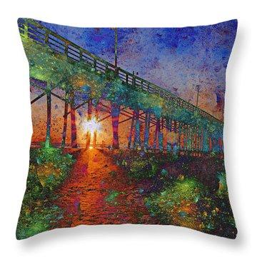 Vibrant Sunrise Throw Pillow by Betsy Knapp