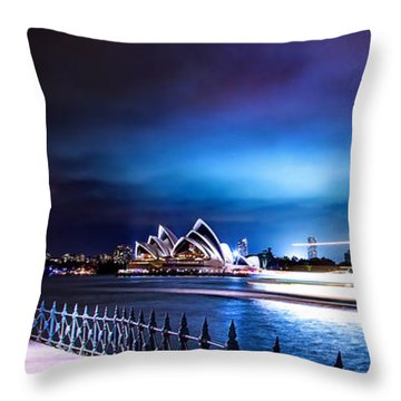 Vibrant Sydney Harbour Throw Pillow