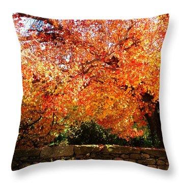 Vibrant Tree Throw Pillow