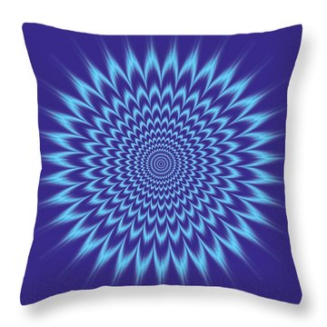 Vibrating Colors Throw Pillow