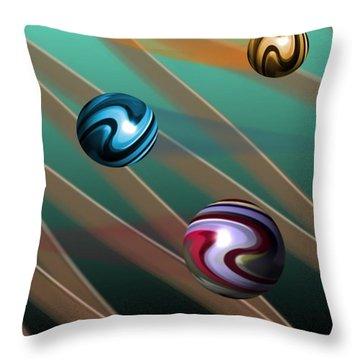 Vibrations Throw Pillow