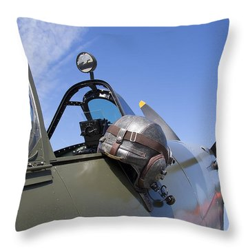 Vickers Spitfire Throw Pillow by Daniel Hagerman