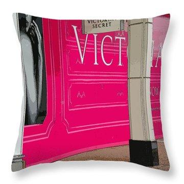 Vicky Throw Pillow by David Bearden