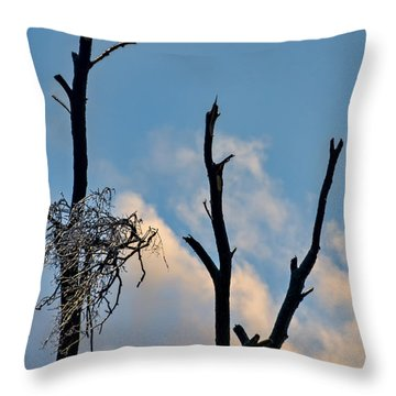 Victims Of The Ice Storm Throw Pillow by Gerda Grice