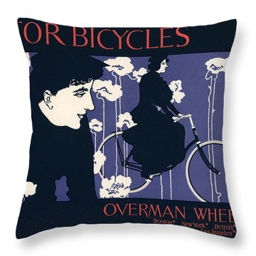 Victor Bicycles Throw Pillow