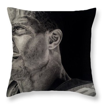 Victor Cruz Drawing Throw Pillow