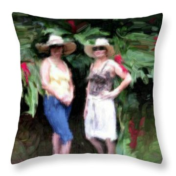 Throw Pillow featuring the painting Victoria And Friend by Bruce Nutting
