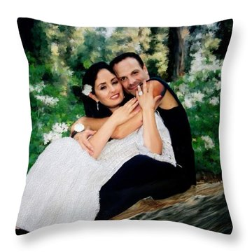 Victoria And Her Man Of God Throw Pillow