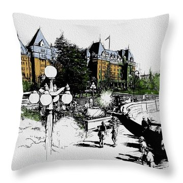 Victoria Art 001 Throw Pillow by Catf