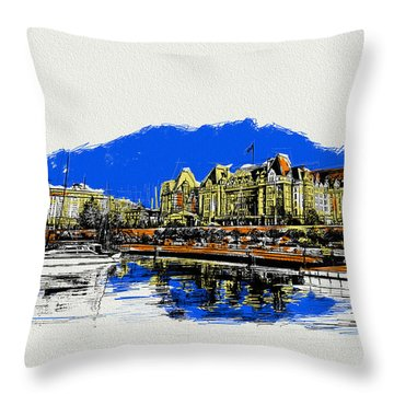 Victoria Art 011 Throw Pillow by Catf