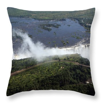 Victoria Falls  Throw Pillow by Aidan Moran