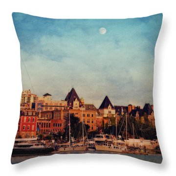 Victoria Historic Buildings  Throw Pillow