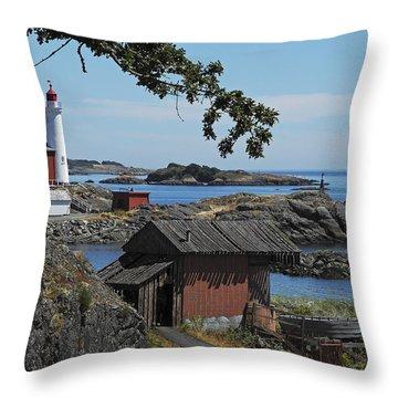 Victoria Lighthouse Throw Pillow