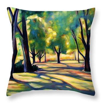 Decorative Pillows Victoria Bc : Victoria Park Shadows Painting by Sheila Diemert